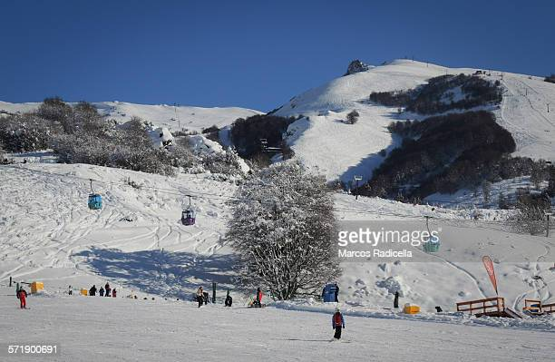 catedral ski resort, bariloche argentina - radicella stock photos and pictures
