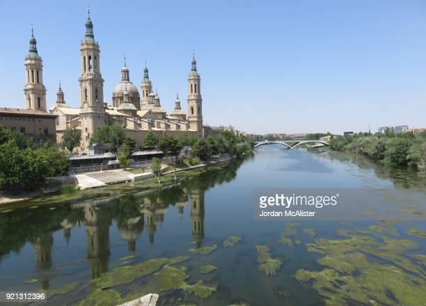 Catedral-Basílica de Nuestra Señora del Pilar and the Ebro River (Zaragoza, Spain)