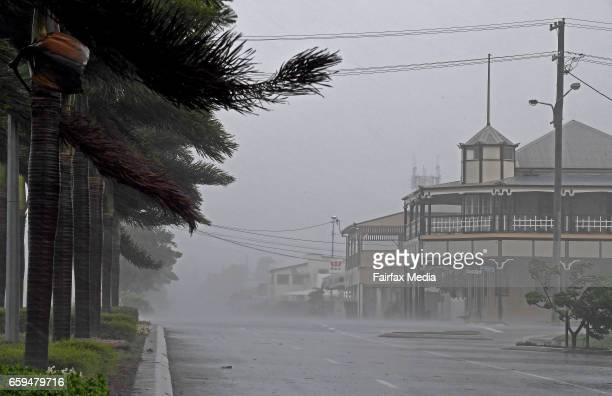 Category 4 Cyclone Debbie bears down on north Queensland the town of Bowen is deserted and lashed by winds and rains before for the full force of the...