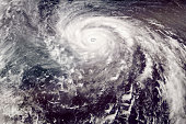 Category 5 Typhoon satellite view. Elements of this image furnished by NASA.
