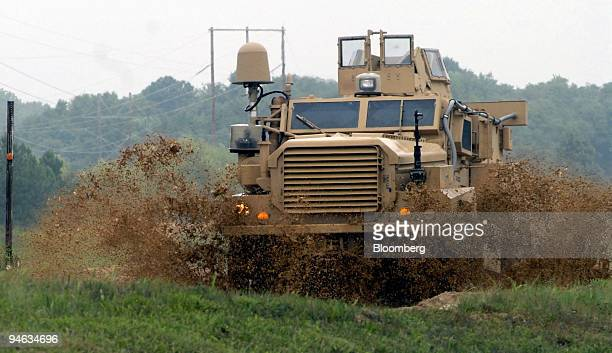 Category I Mine Resistant Ambush Protected vehicle drives down a test track at the Aberdeen Proving Ground in Aberdeen Maryland Aug 24 2007 The Army...