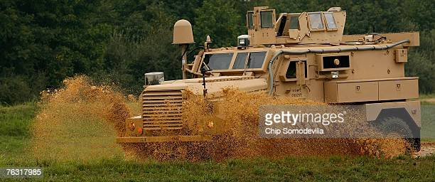 Category I Mine Resistant Ambush Protected vehicle drives through an offroad course during a demonstration at Aberdeen Proving Ground August 24 2007...