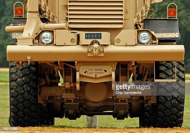 Category III Mine Resistant Ambush Protected vehicle is on display during a demonstration at Aberdeen Proving Ground on Friday August 24 2007 in...