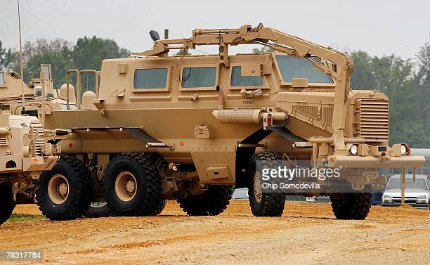 Category III Mine Resistant Ambush Protected vehicle or 'Buffalo' rolls out during a demonstration at Aberdeen Proving Ground on Friday August 24...