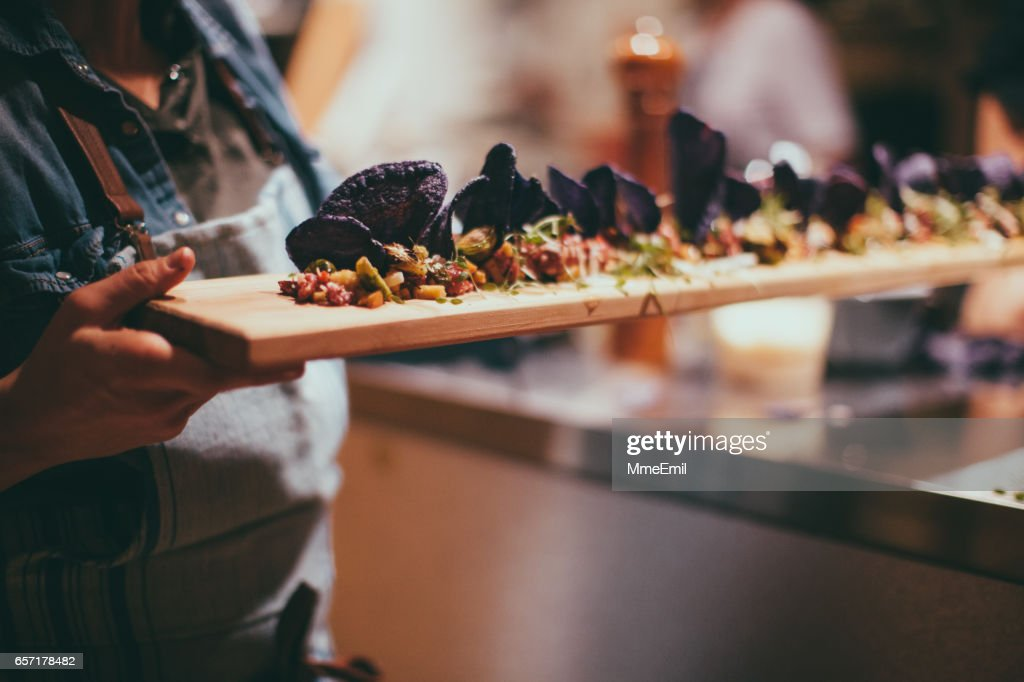 Caterer Cooking : Stock Photo