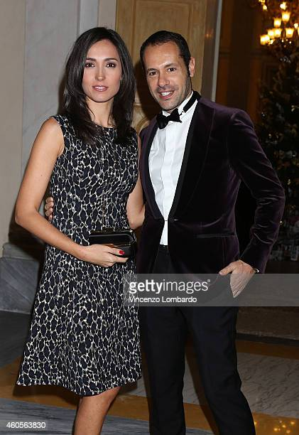 Caterina Balivo and Massimiliano Giornetti attend the Fondazione IEO CCM Christmas Dinner For on December 16 2014 in Monza Italy