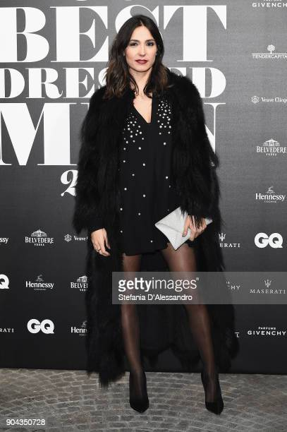 Caterina Balivo attends GQ Best Dressed Man 2018 during Milan Men's Fashion Week Fall/Winter 2018/19 on January 12 2018 in Milan Italy