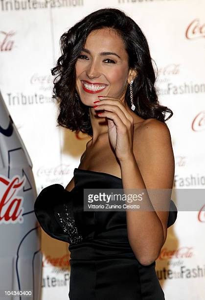 Caterina Balivo attends Milan Fashion Week Womenswear S/S 2011 - Tribute To Fashion held at Palazzo Marino on September 21, 2010 in Milan, Italy.