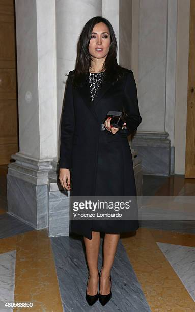 Caterina Balivo attends the Fondazione IEO CCM Christmas Dinner For on December 16 2014 in Monza Italy