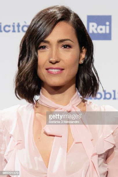 Caterina Balivo attends the Rai Show Schedule presentation on June 27 2018 in Milan Italy