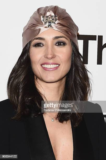 Caterina Balivo attends the 'The Post' premiere on January 15 2018 in Milan Italy