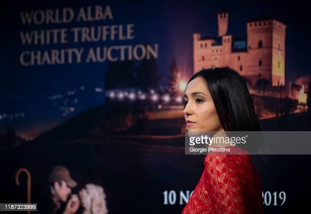 Caterina Balivo attends the world Alba white truffle charity auction at Grinzane Cavour Castle on November 10 2019 in Alba Italy