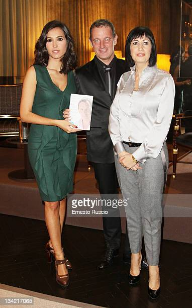 "Caterina Balivo, Craig Warwick and Candida Morvillo attend the ""Tutti Quanti Abbiamo Un Angelo"" book launch at Majestic on November 28, 2011 in Rome,..."