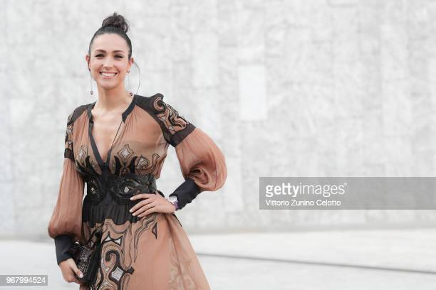Caterina Balivo poses on June 5 2018 in Milan Italy