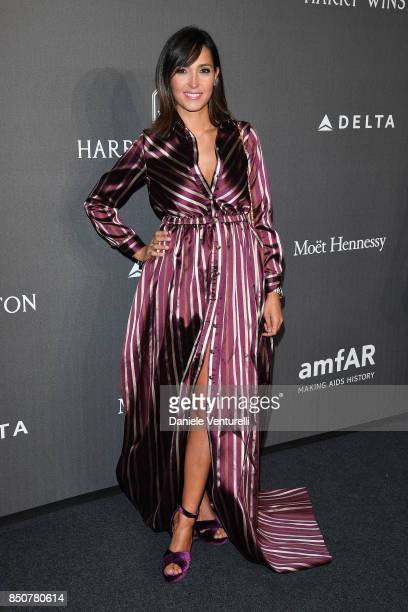 Caterina Balivo walks the red carpet of amfAR Gala Milano on September 21 2017 in Milan Italy