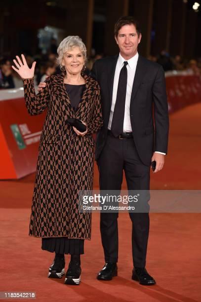 Caterina Caselli and Filippo Sugar attend the red carpet of the movie Negramaro L'anima vista da qui during the 14th Rome Film Festival on October 25...