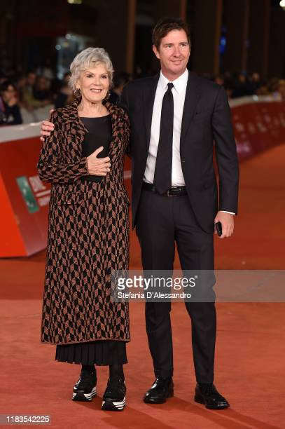 Caterina Caselli and Filippo Sugar attend the red carpet of the movie Negramaro L'anima vista da qui during the 14th Rome Film Festival on October 25...