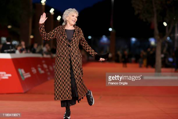 Caterina Caselli attends the red carpet of the movie Negramaro L'anima vista da qui during the 14th Rome Film Festival on October 25 2019 in Rome...