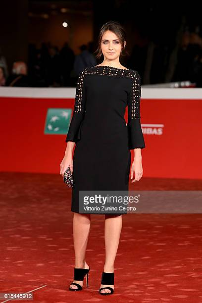 Caterina Le Caselle walks a red carpet for 'Naples '44' during the 11th Rome Film Festival at Auditorium Parco Della Musica on October 18 2016 in...