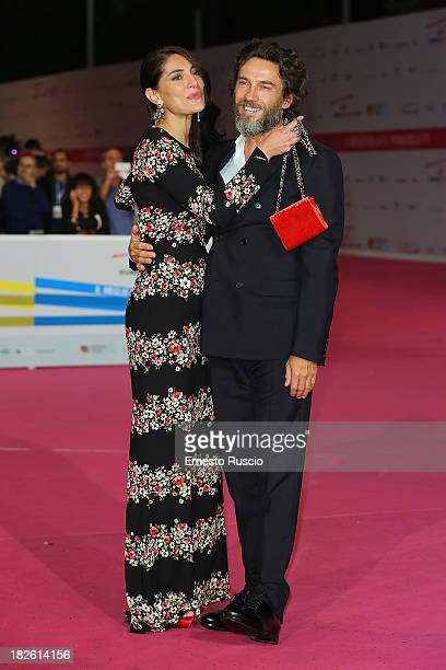 Caterina Murino and Alessio Boni attend the 'Il Ritorno Di Ulisse' premiere during the Fiction Fest 2013 at Auditorium Parco della Musica on October...
