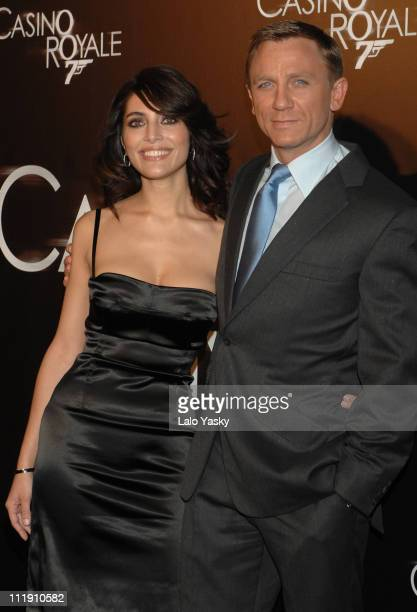 Caterina Murino and Daniel Craig during 'Casino Royale' Madrid Premiere at Palacio de la Musica CInema in Madrid Madrid Spain