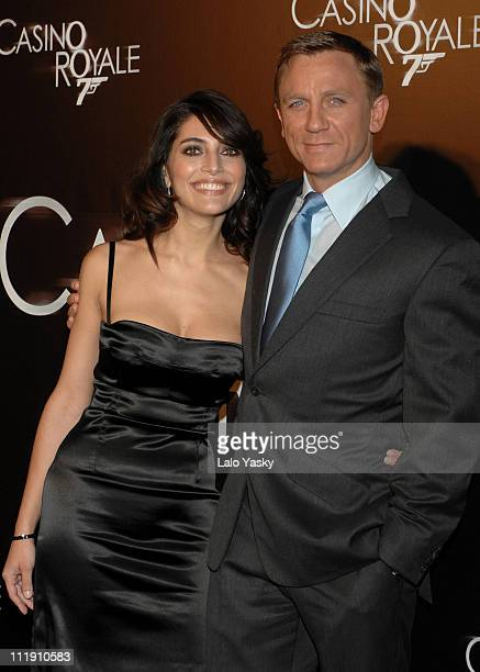 Caterina Murino and Daniel Craig during 'Casino Royale' Madrid Premiere at Palacio de la Musica CInema in Madrid Madrid Spain