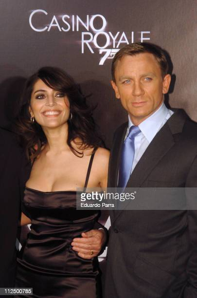 Caterina Murino and Daniel Craig during Casino Royale Madrid Premiere Arrivals in Madrid Spain
