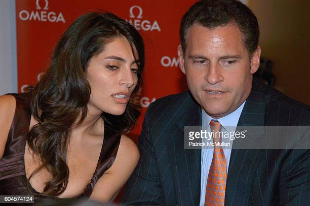 Caterina Murino and Gregory Swift attend Omega Hosts New York City Bonds with Bond Girl at Tourneau Time Machine on November 7 2006 in New York City