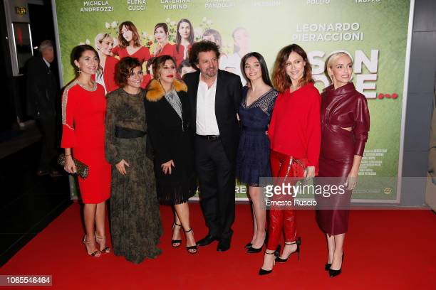 Caterina Murino Antonia Truppo Michela Andreozzi Leonardo Pieraccioni Mariasole Pollio Gabriella Pession and Elena Cucci walk the red carpet ahead of...