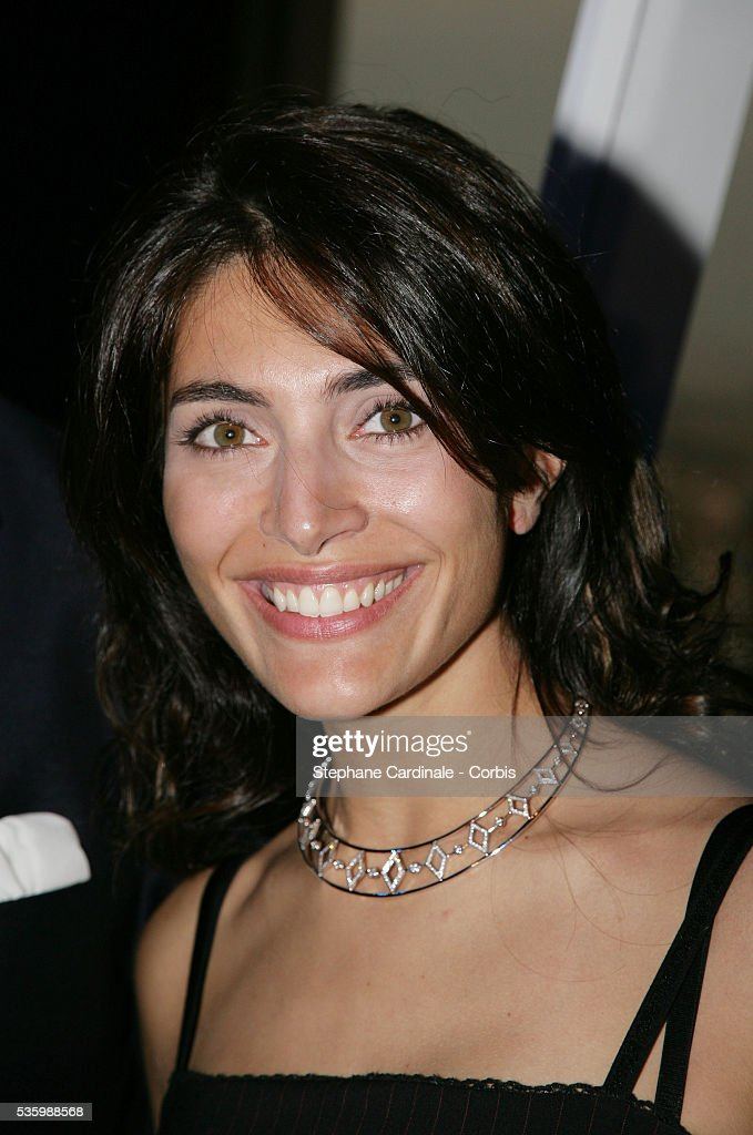 Caterina Murino at the 'Diamonds of Heart' exhibition at the Eiffel Tower.