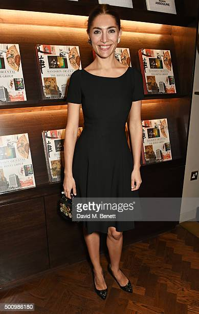 "Caterina Murino attends a champagne reception to celebrate the launch of ""Mandarin Oriental: The Book"" by Assouline at Maison Assouline on December..."