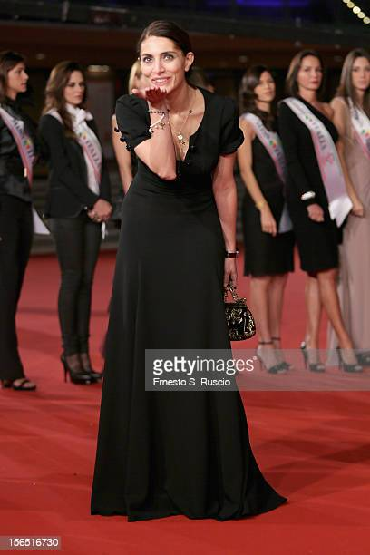 Caterina Murino attends the Miss Italia Red Carpet during the 7th Rome Film Festival at the Auditorium Parco Della Musica on November 16 2012 in Rome...