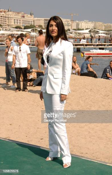 Caterina Murino during 2007 Cannes Film Festival St Trinian's Photocall at British Pavilion in Cannes France
