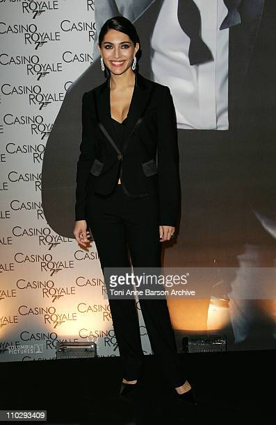 Caterina Murino during 'Casino Royale' Paris Premiere Inside Arrivals at Le Grand Rex Theater in Paris France