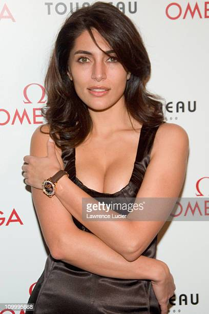 Caterina Murino during Caterina Murino Launches Omega Seamaster Professional 300m Watch at Tourneau Time Machine in New York City New York United...