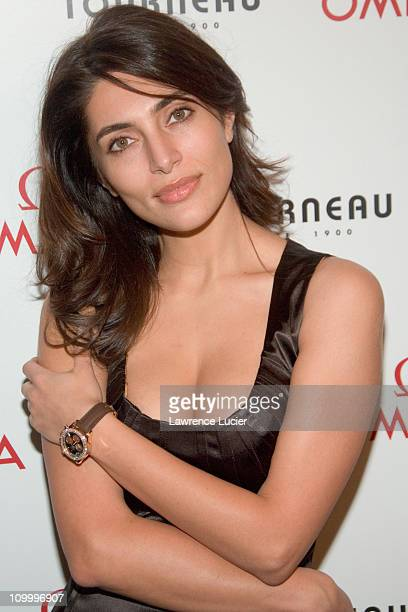 Caterina Murino during Caterina Murino Launches Omega Seamaster Professional 300m Watch at Tourneau Time Machine in New York City, New York, United...