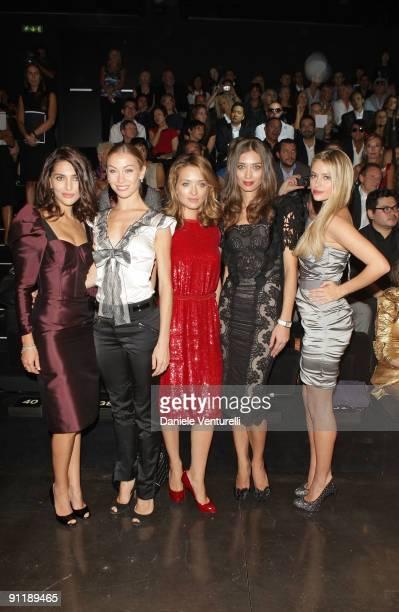 Caterina Murino Eleonora Abbagnato Carolina Crescentini Margareth Made and Martina Stella attend the Dolce Gabbana show as part of Milan Womenswear...
