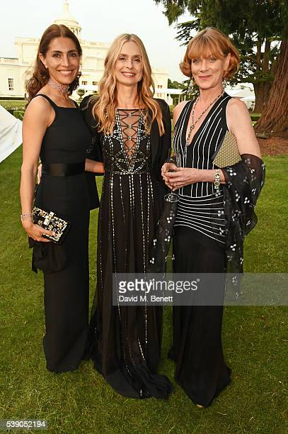 Caterina Murino Maryam d'Abo and Samantha Bond attend the Duke of Edinburgh Award 60th Anniversary Diamonds are Forever Gala at Stoke Park on June 9...