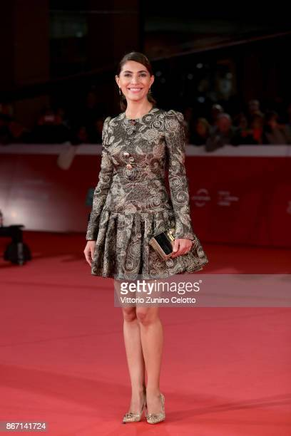 Caterina Murino walks a red carpet for 'Cinque' during the 12th Rome Film Fest at Auditorium Parco Della Musica on October 27, 2017 in Rome, Italy.