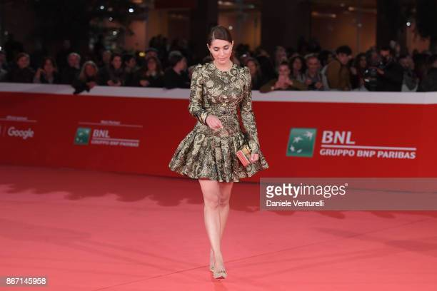 Caterina Murino walks a red carpet for 'Cinque' during the 12th Rome Film Fest at Auditorium Parco Della Musica on October 27 2017 in Rome Italy