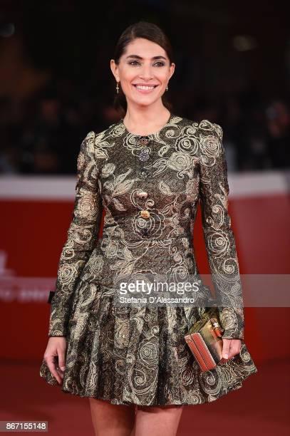 Caterina Murino walks a red carpet for 'Una Questione Privata Red' during the 12th Rome Film Fest at Auditorium Parco Della Musica on October 27 2017...