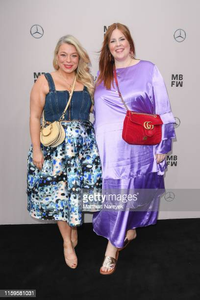 Caterina Pogorzelski and Tanja Marfo attend the Irene Luft show during the Berlin Fashion Week Spring/Summer 2020 at ewerk on July 02 2019 in Berlin...