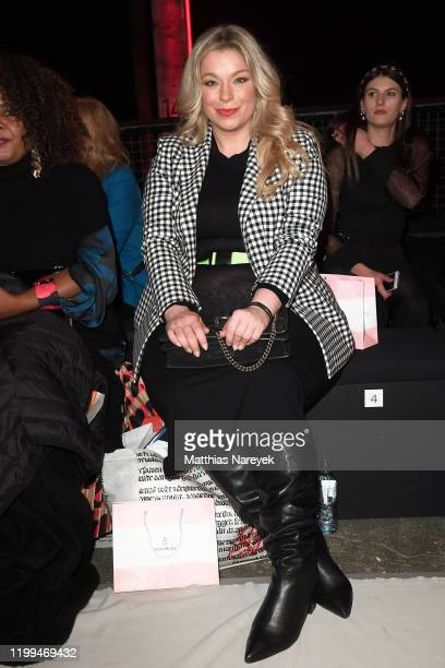 Caterina Pogorzelski attends the Cashmere Victim show during Berlin Fashion Week Autumn/Winter 2020 at Kraftwerk Mitte on January 14 2020 in Berlin...