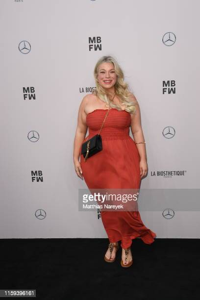 Caterina Pogorzelski attends the Lana Mueller show during the Berlin Fashion Week Spring/Summer 2020 at ewerk on July 01 2019 in Berlin Germany