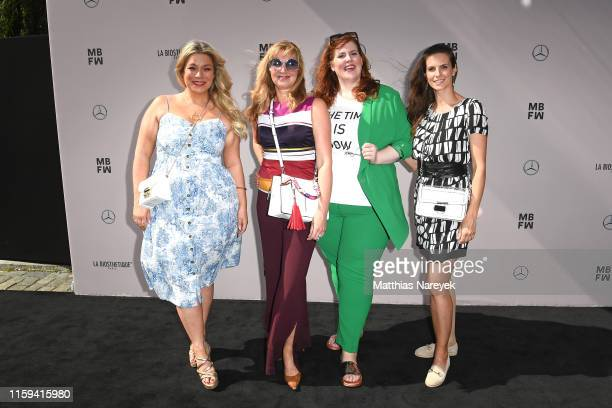 Caterina Pogorzelski Nanna Kuckuck Tanja Marfo and Katrin Wrobel attend the Danny Reinke show during the Berlin Fashion Week Spring/Summer 2020 at...