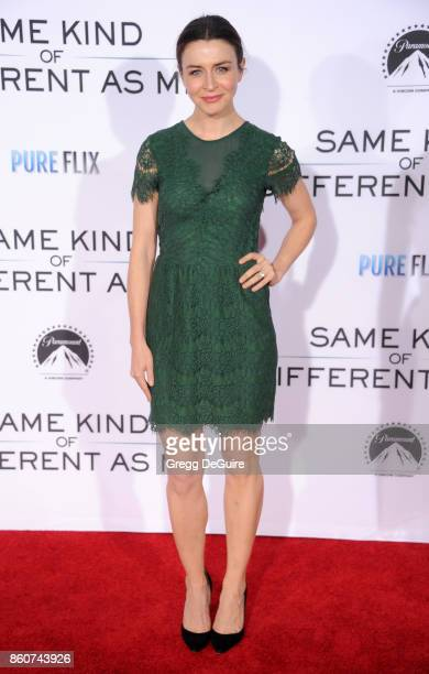 Caterina Scorsone arrives at the premiere of Paramount Pictures and Pure Flix Entertainment's 'Same Kind Of Different As Me' at Westwood Village...