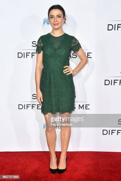 """Caterina Scorsone attends the Premiere Of Paramount Pictures And Pure Flix Entertainment's """"Same Kind Of Different As Me"""" at Westwood Village Theatre..."""