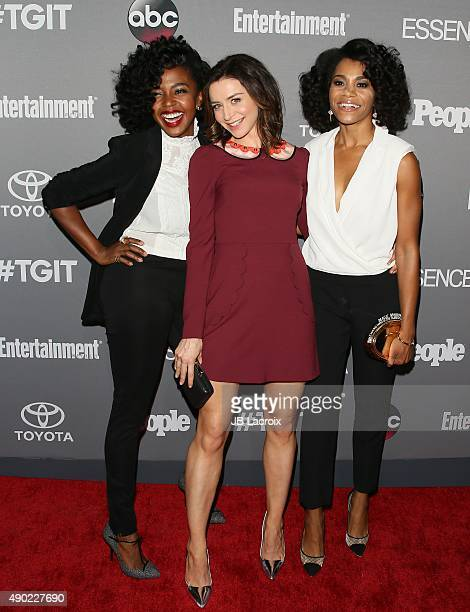 Caterina Scorsone Jerrika Hinton and Kelly McCreary attend the Celebration of ABC's TGIT Lineup presented by Toyota and cohosted by ABC and Time...