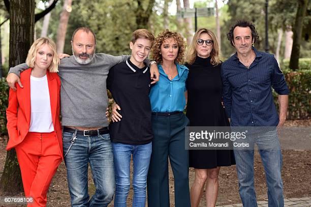 Caterina Shulha Ivano Di Matteo Andrera Pittorino Valeria Golino Marghetira Buy Bruno Todeschini attend a photocall for 'La Vita Possibile' on...