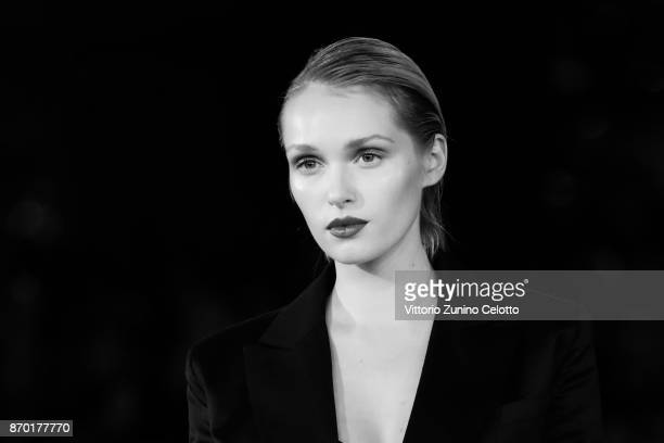 Caterina Shulha walks a red carpet for 'The Place' during the 12th Rome Film Fest at Auditorium Parco Della Musica on November 4 2017 in Rome Italy